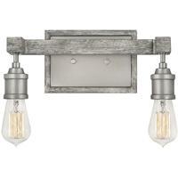 Hinkley 5762PW Denton 2 Light 14 inch Pewter/Driftwood Gray Bath Light Wall Light