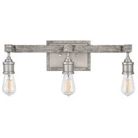 Hinkley 5763PW Denton 3 Light 22 inch Pewter with Driftwood Grey Accents Bath Light Wall Light