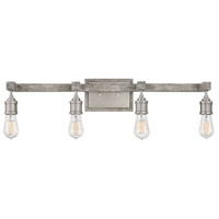 Denton 4 Light 32 inch Pewter with Driftwood Grey Accents Bath Light Wall Light