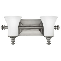 Alice 2 Light 17 inch Antique Nickel Bath Light Wall Light