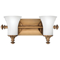 Alice 2 Light 17 inch Brushed Bronze Bath Light Wall Light