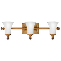 Hinkley 5833BR Alice 3 Light 27 inch Brushed Bronze Bath Light Wall Light