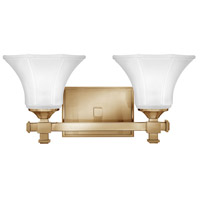 Abbie 2 Light 16 inch Brushed Caramel Bath Light Wall Light