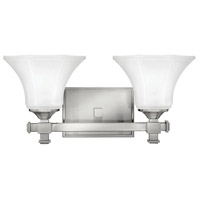 Abbie 2 Light 16 inch Brushed Nickel Bath Light Wall Light