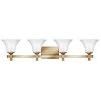 Abbie 4 Light 35 inch Brushed Caramel Bath Light Wall Light