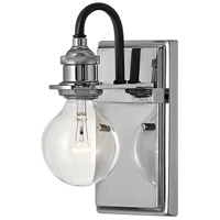 Hinkley 5870PN Baxter 1 Light 5 inch Polished Nickel Bath Sconce Wall Light