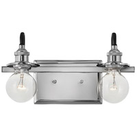 Hinkley 5872PN Baxter 2 Light 14 inch Polished Nickel Bath Light Wall Light