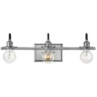 Hinkley Steel Baxter Bathroom Vanity Lights