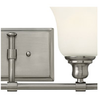 Hinkley 58782BN Colette 2 Light 17 inch Brushed Nickel Bath Light Wall Light, White Etched Glass alternative photo thumbnail