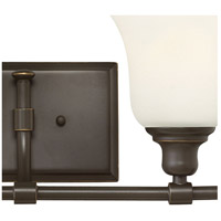 Hinkley 58782OZ Colette 2 Light 17 inch Oil Rubbed Bronze Bath Light Wall Light, White Etched Glass alternative photo thumbnail