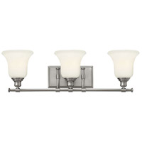 Hinkley 58783BN Colette 3 Light 26 inch Brushed Nickel Bath Wall Light, White Etched Glass