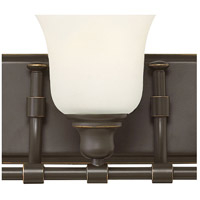 Hinkley 58783OZ Colette 3 Light 26 inch Oil Rubbed Bronze Bath Light Wall Light, White Etched Glass alternative photo thumbnail
