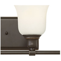 Hinkley 58784OZ Colette 4 Light 33 inch Oil Rubbed Bronze Bath Light Wall Light, White Etched Glass  alternative photo thumbnail
