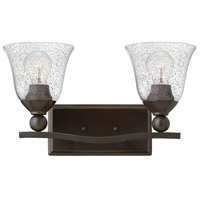 Hinkley 5892OB-CL Bolla 2 Light 16 inch Olde Bronze Bath Light Wall Light in Incandescent, Clear Seedy, Clear Seedy Glass