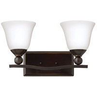 Hinkley 5892OB-OPAL Bolla 2 Light 16 inch Olde Bronze Bath Wall Light in Etched Opal, Incandescent