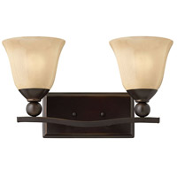 Hinkley 5892OB Bolla 2 Light 16 inch Olde Bronze Bath Light Wall Light in Incandescent, Light Amber Seedy