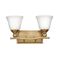 Bolla 2 Light 16 inch Brushed Bronze Bath Vanity Wall Light, Etched Opal Glass
