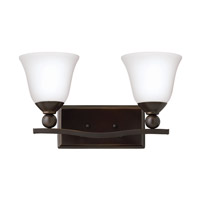 Bolla 2 Light 16 inch Olde Bronze Bath Vanity Wall Light in GU24, Etched Opal, Etched Opal Glass
