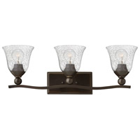 Hinkley 5893OB-CL Bolla 3 Light 26 inch Olde Bronze Bath Light Wall Light in Incandescent, Clear Seedy, Clear Seedy Glass