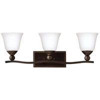 Hinkley 5893OB-OPAL Bolla 3 Light 26 inch Olde Bronze Bath Wall Light in Etched Opal, Incandescent
