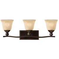 Hinkley 5893OB Bolla 3 Light 26 inch Olde Bronze Bath Light Wall Light in Incandescent Light Amber Seedy