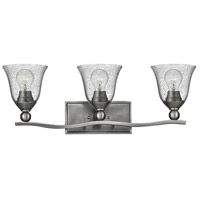 Hinkley Lighting Bolla 3 Light Bath Vanity in Brushed Nickel with Clear Seedy Glass 5893BN-CL