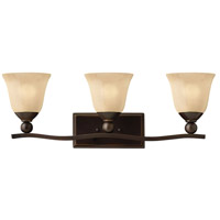 Hinkley Lighting Bolla 3 Light Bath Vanity in Olde Bronze with Light Amber Seedy Glass 5893OB-LED