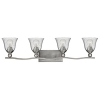 Bolla 4 Light 36 inch Brushed Nickel Bath Light Wall Light in Incandescent, Clear Seedy, Clear Seedy Glass