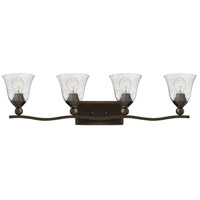 Bolla 4 Light 36 inch Olde Bronze Bath Light Wall Light in Incandescent, Clear Seedy, Clear Seedy Glass