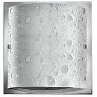 Hinkley 5920CM-LED2 Daphne 1 Light 9 inch Chrome Bath Wall Light, Bubble Art Glass