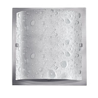 Daphne 1 Light 9 inch Brushed Nickel Bath Vanity Wall Light in GU24, Pocket Style Bubble Art Glass