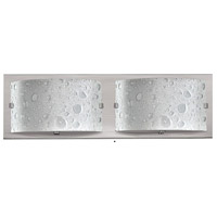 Hinkley 5922BN Daphne 2 Light 16 inch Brushed Nickel Bath Light Wall Light in Etched Bubble Art
