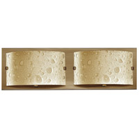 Hinkley 5922BR Daphne 2 Light 16 inch Brushed Bronze Bath Light Wall Light in Amber Etched Bubble Art