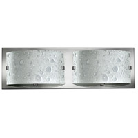 Daphne 2 Light 16 inch Chrome Bath Light Wall Light in Etched Bubble Art