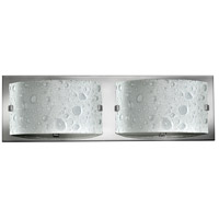 Hinkley 5922CM-LED Daphne 2 Light 16 inch Chrome Bath Vanity Wall Light in Bubble Art, Pocket Style Bubble Art Glass