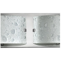 Hinkley 5922CM Daphne 2 Light 16 inch Chrome Bath Light Wall Light in Etched Bubble Art alternative photo thumbnail