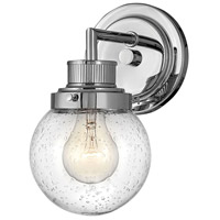 Hinkley 5930CM Poppy 1 Light 7 inch Chrome Bath Light Wall Light