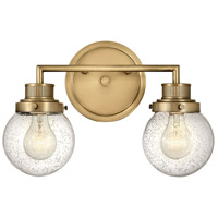 Hinkley 5932HB Poppy 2 Light 15 inch Heritage Brass Bath Light Wall Light
