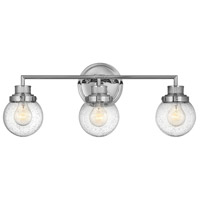 Hinkley 5933CM Poppy 3 Light 24 inch Chrome Bath Light Wall Light