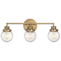 Hinkley 5933HB Poppy 3 Light 24 inch Heritage Brass Bath Light Wall Light