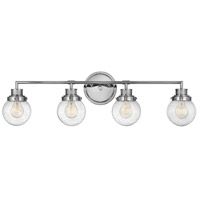 Hinkley 5934CM Poppy 4 Light 34 inch Chrome Bath Light Wall Light