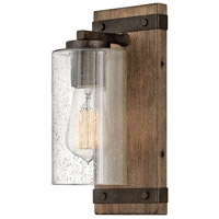 Hinkley 5940SQ Sawyer 1 Light 6 inch Sequoia with Iron Rust Accents Bath Light Wall Light