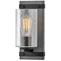 Hinkley 5940DZ Sawyer 1 Light 6 inch Aged Zinc/Distressed Black Bath Light Wall Light