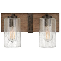 Hinkley 5942SQ Sawyer 2 Light 14 inch Sequoia with Iron Rust Accents Bath Light Wall Light
