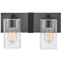 Hinkley 5942DZ Sawyer 2 Light 14 inch Aged Zinc/Distressed Black Bath Light Wall Light