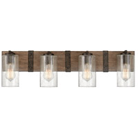 Hinkley 5944SQ Sawyer 4 Light 31 inch Sequoia with Iron Rust Accents Bath Light Wall Light