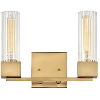 Hinkley 5972HB Xander 2 Light 13 inch Heritage Brass Bath Light Wall Light