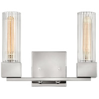 Hinkley 5972PN Xander 2 Light 13 inch Polished Nickel Bath Light Wall Light