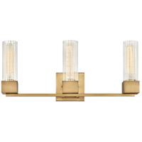 Hinkley 5973HB Xander 3 Light 23 inch Heritage Brass Bath Light Wall Light