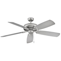 Hinkley 900460FSS-NID Gladiator 60 inch Satin Steel with Driftwood/Silver Blades Ceiling Fan